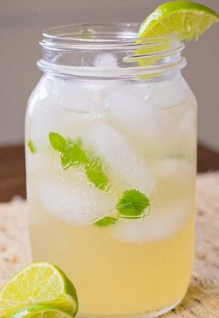 limeade - This tart, refreshing drink is great by itself or as a base for mixed drinks! Made w- fresh squeezed lime juice, mint simple syrup, and alkaline water. 57 calories per serving. Delivered within 24 hours unless customer specifies delivery date.$13