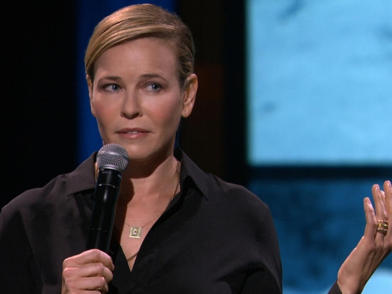 "Uganda Be Kidding Me: Chelsea Handler Nails Netflix Debut - ""Are there any black people here?"" Chelsea Handler asks as she pans the audience, one minute into Uganda Be Kidding Me Live. ""Smile, so I can see you."" Mildly offended? Morally upright readers, stop reading now—you're strongly advised to skip Netflix's new, horribly funny stand-up comedy special.Unleashed by the constraints of late night cable, Handler's fearless, flippant humor reaches new levels of debauchery in her Netflix debut, a 70-minute taping of the Chicago stop on her Uganda Be Kidding Me book tour. (When Handler's agent first heard the title, she said no way: ""Uganda's not funny."" Handler vowed, ""It will be when I f—ing get there!"")...READ ON EW"
