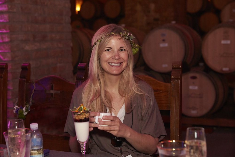 Wisteria Lane  made flower crowns for every guest. We think Lisa wore it best.