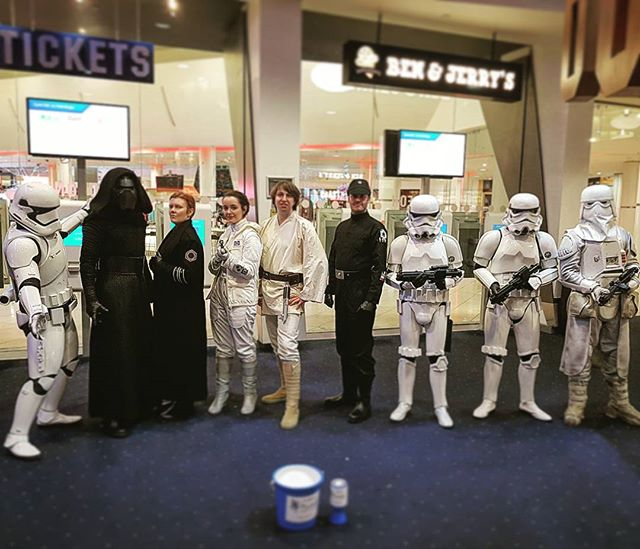Units have been deployed to  @odeoncinemas locations at both @intumetrocentre and @intutraffordcentre this week for the release of @starwars The Last Jedi fund raising for @mindcharity #Starwars #TheLastJedi #Odeon #99thGarrisonUK
