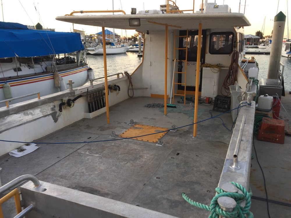 Deck and hull sanded