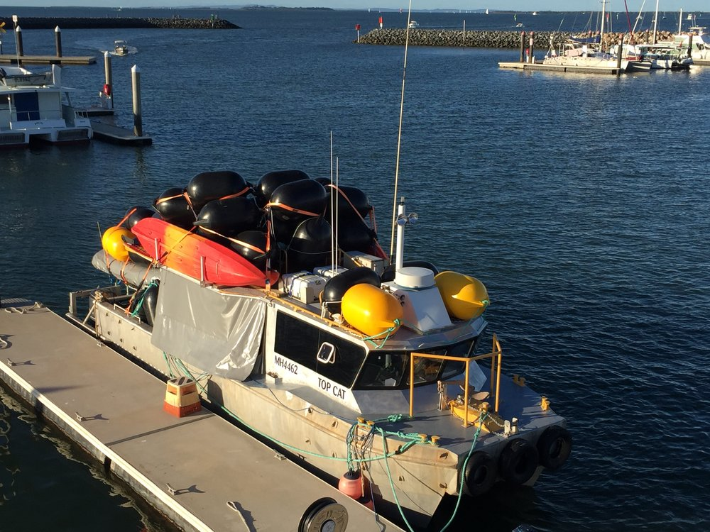 Top Cat moving materials South from Queensland to Flinders Island, Tasmania.