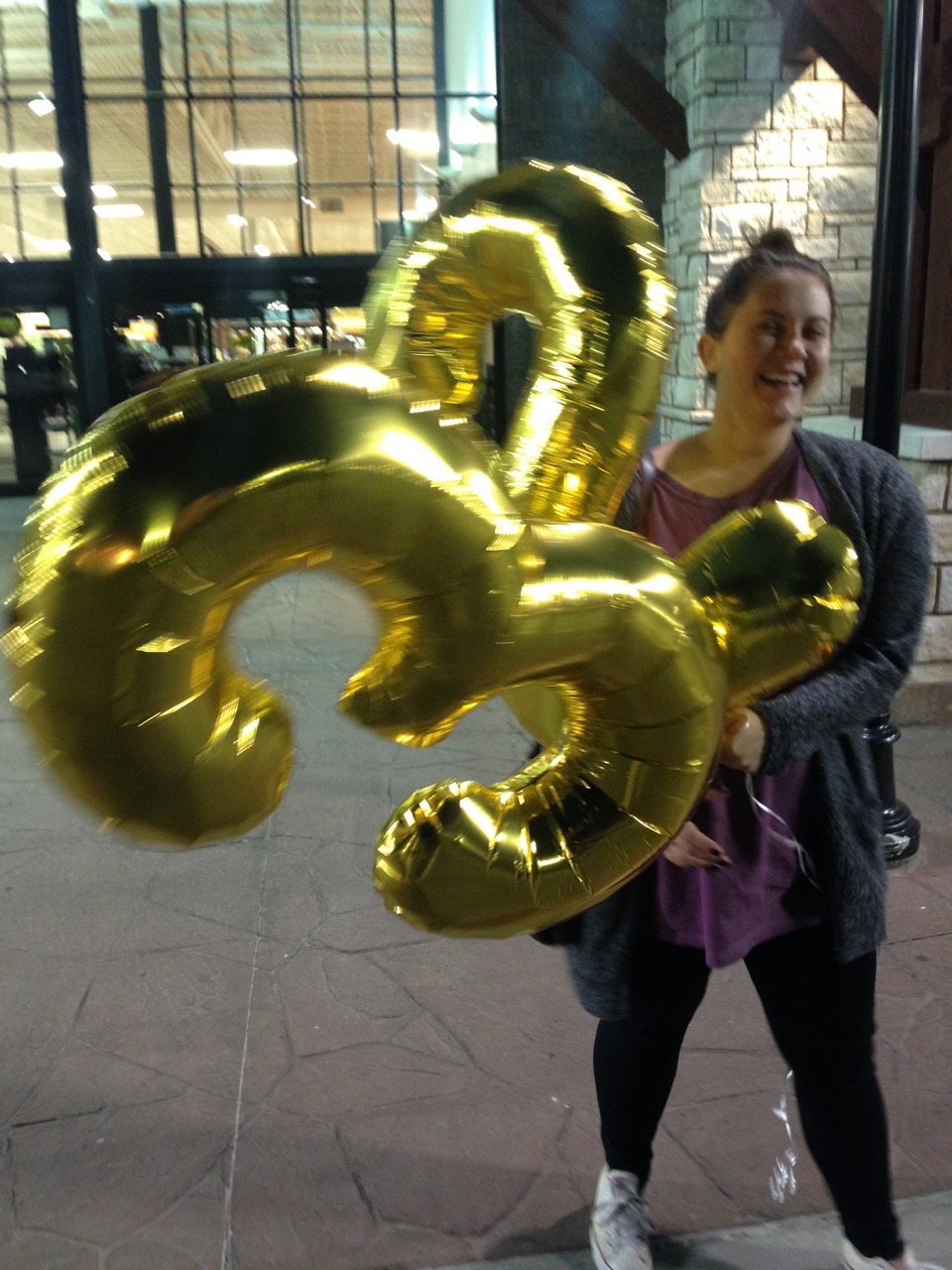 Ashley and I went to fill her 23 balloons.