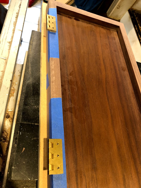Hinges ready for precise layout.