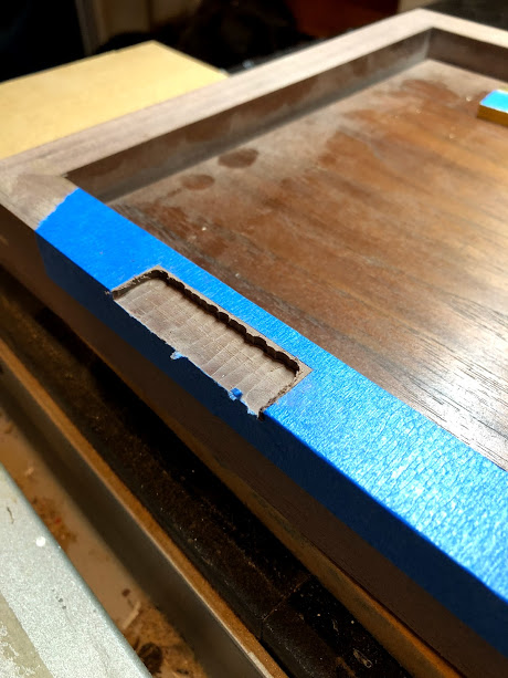 Post routing. Note: do not go all the way up to the layout lines. Leave room for your chisel.