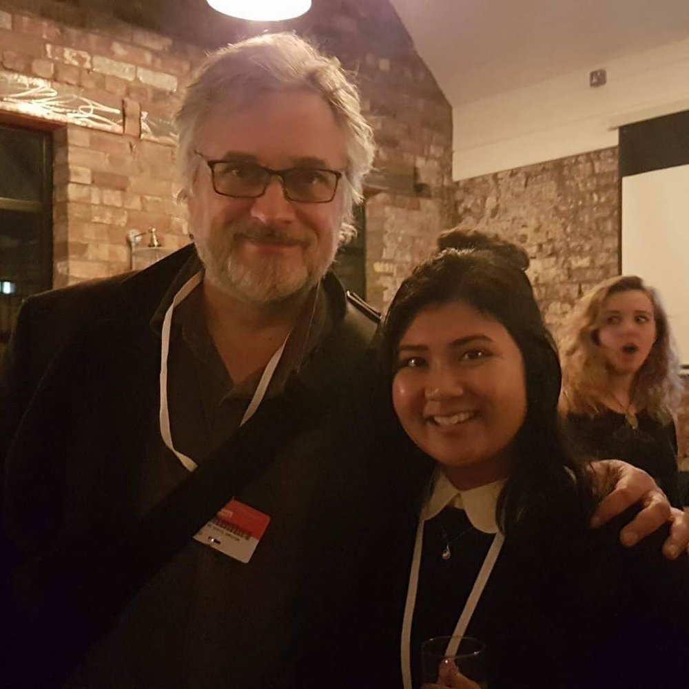 Leana with  Michael Dudok de Wit   (director of The Red Turtle.)    at Encounters Film Festival