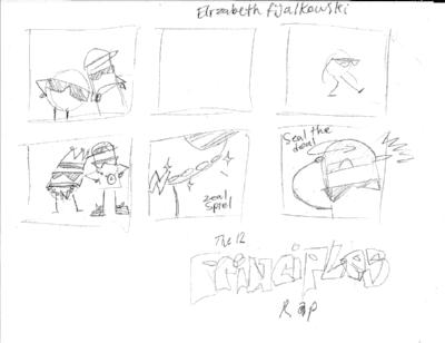 Storyboards by Elizabeth Fijalkowski