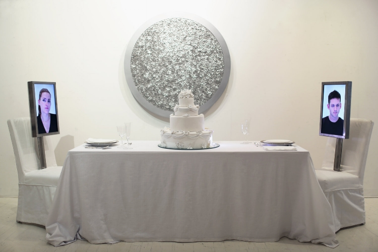 Dinner for Two Wedding Cake , 2013