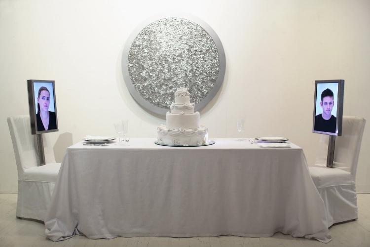 Dinner for Two Wedding Cake , 2013