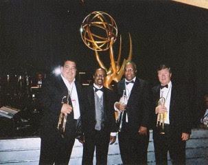 1996 Daytime Emmy's trumpets: Rick Baptist, Harold Wheeler, Fred Irby, III & Warren Luenin