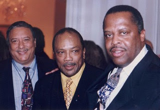 Fred with Arturo Sandoval & Quincy Jones, 1997 at VP Al Gore's residence