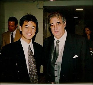 With former KCOHO Music Director, Placido Domingo, 2000