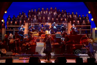 Members of the Kennedy Center Opera House Orchestra performing for Led Zeppelin at the 2012 Kennedy Center Honors