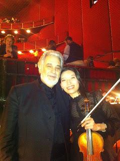 with Maestro Domingo at intermission