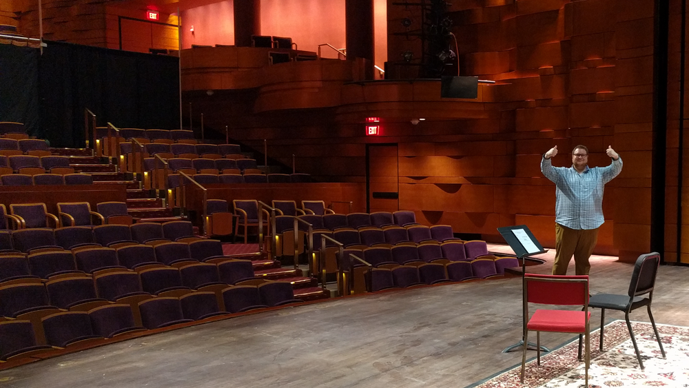 Assistant Principal Trombonist Doug Rosenthal as Audition Proctor