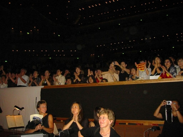 Enthusiatic Japanese audience after a performance