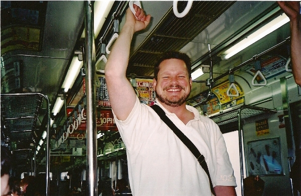 Principal Trumpet Tim White on the Tokyo subway