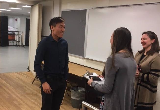 Newly appointed Assistant Principal Clarinet Ben Chen learns he won the job!