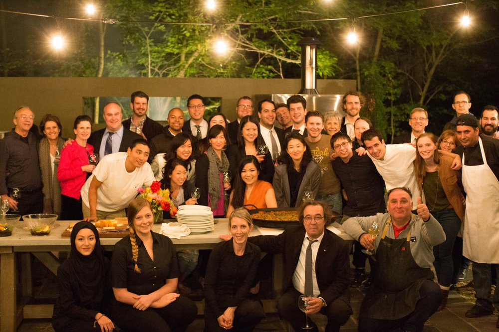 Iganico (second from left in front row) with Chef Jose Andres (far right front row)