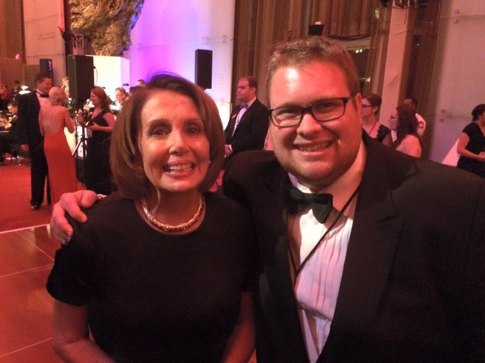With Nancy Pelosi at the Kennedy Center Honors in 2015