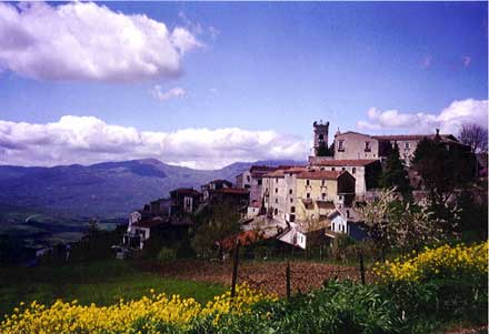 Our ancient village of Cercemaggiore in the mountainous central region of Italy.