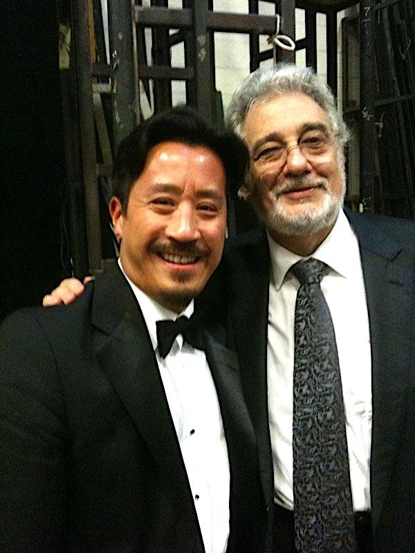 With Placido Domingo in 2011 after his final vocal performance of Gluck's opera Iphigénie en Tauride and also his last season as General Director of the Washington National Opera.