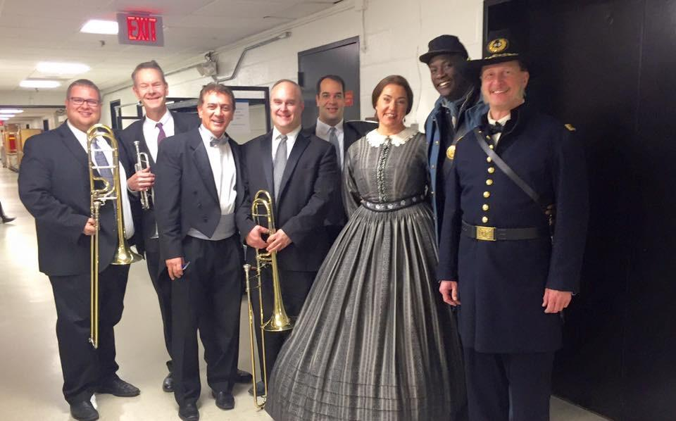 With Dante Azonlini, Melody Moore and members of WNO, Glass's Appomattox, 2015