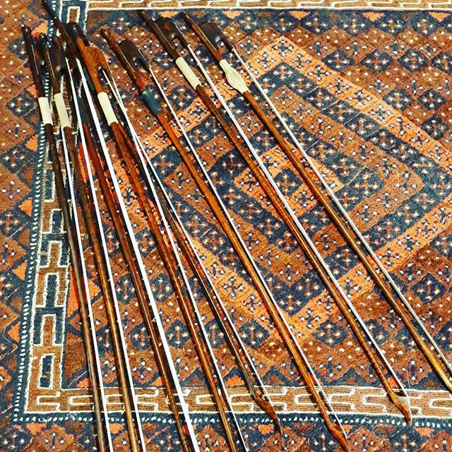 Lots of #baroquebows ready for  tomorrow's #unsungheroescelloensemble workshop in #lewes UK. We are playing transcendent music for #christmas day by #morales that he may well have performed at the #sistine. #cello #cellist #celloensemble #cellocourses #classicalmusic