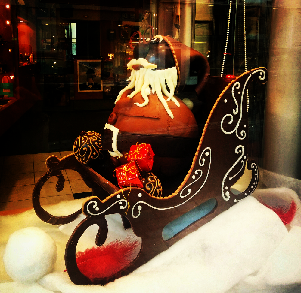 Chocolate Santa and his sleigh - Dinard
