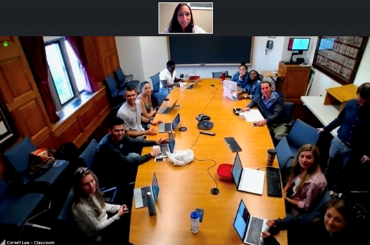 ASAP Co-Founder, Swapna Reddy, communicating via Skype with a team of lawyers