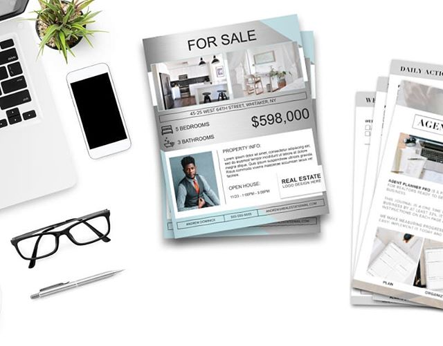 Prepare for 2019 with the Agent Planner Pro and an assortment of customizable Open House Flyer designs. Instant downloads so you can click, print and go!