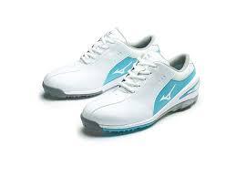 Mizuno Nexlite SL Ladies Golf Shoes - White:Sax.png