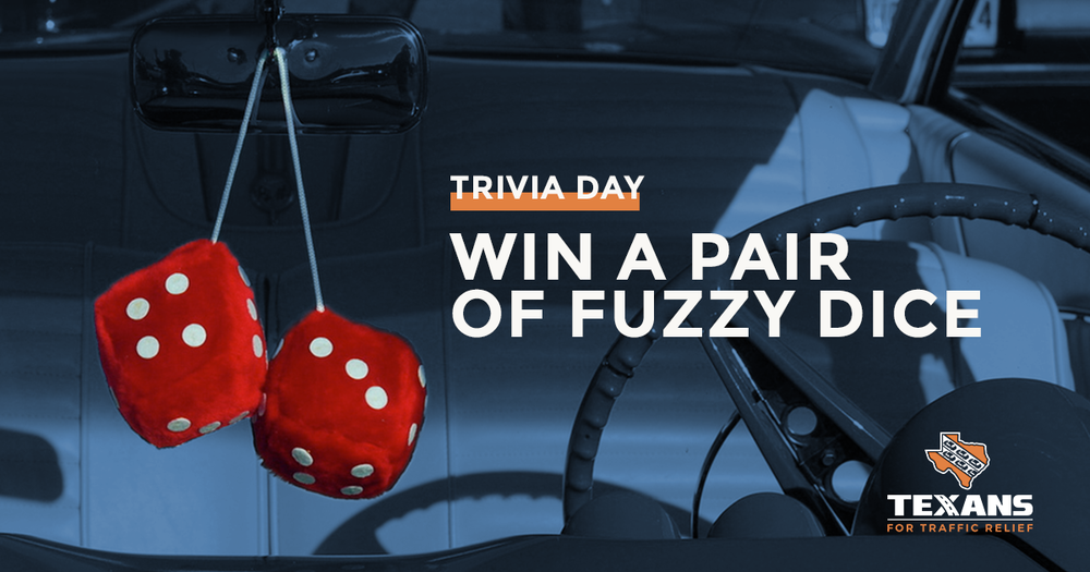 In what year was Texas' gas tax last raised? Submit your answer for the chance to win a pair of fuzzy dice! -