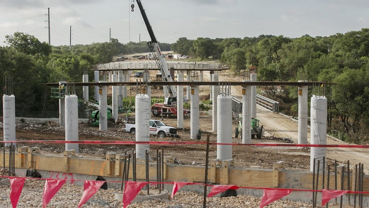 Construction of the Texas 45 Southwest tollway, seen here during its early stages in 2017, did not require a public vote. But GOP primary voters are being asked if they think such a voting requirement for toll projects would be a good idea. RALPH BARRERA / AMERICAN-STATESMAN