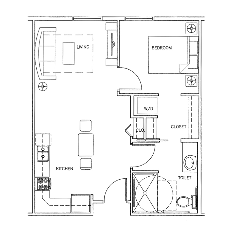 Forestview | 1 bedroom | 558 Sq. Ft.
