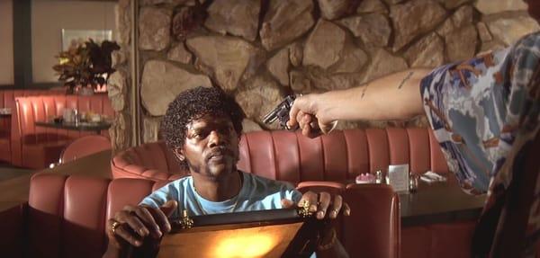 Samuel L. Jackson in 'Pulp Fiction' [Credit: Miramax]