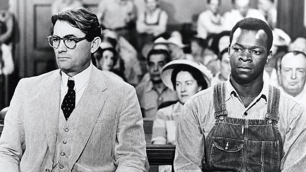 Gregory Peck and Brock Peters in 'To Kill a Mockingbird' (1962) [Credit: Universal Pictures]