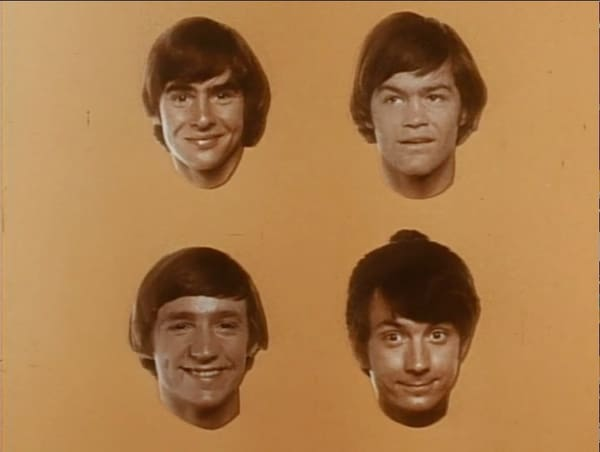 Still from the closing title sequence of 'The Monkees' [Credit: Columbia Pictures Television]