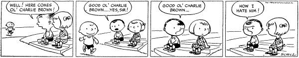 The first Peanuts strip on October 2, 1950. [Source: United Feature Syndicate]