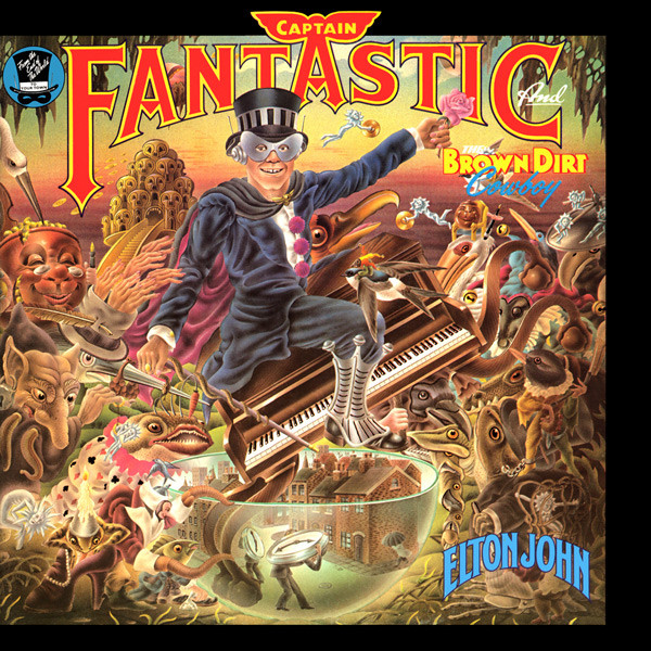 Album cover for  Captain Fantastic & the Brown Dirt Cowboy  [Source: MCA]