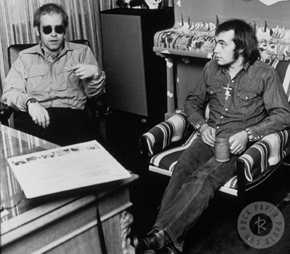 Elton John and Bernie Taupin [Source: Dezo Hoffmann]