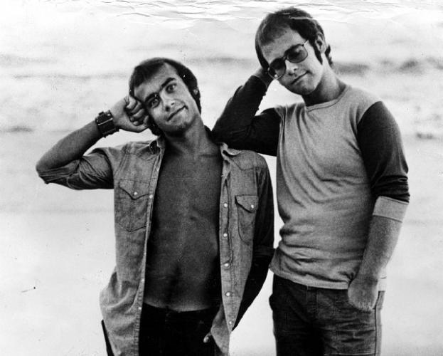 Elton John and Bernie Taupin [Source unknown]