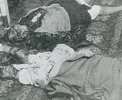 The mutilated bodies of Madame and Geneviéve Lancelin