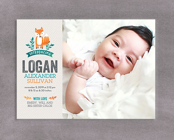 SHUTTERFLY BIRTH ANNOUNCEMENTS