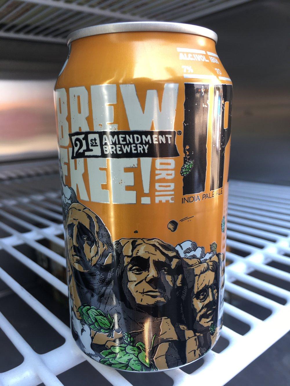 21st Amendment Brewery - Brew Free! Or Die IPA