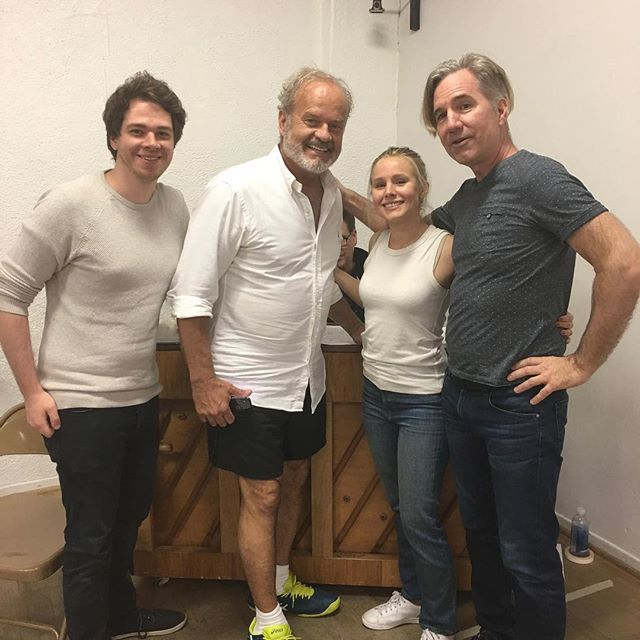 Sometimes work days are especially fun. Made even better when you work with insanely talented people like @rwneill,  @michaelorland, @laurenmillerrogen, @kristenanniebell and Kelsey Grammer
