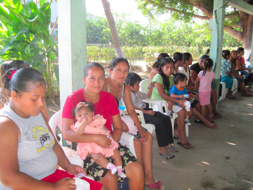 This is the mothers and children healthcare clinic in Coatapeque where moms and their babies line up each day to get valuable (and free) healthcare and nutrition.