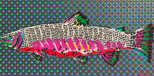 Fish 1Marian Pouch Find Your Joy Greenville SC Local artist painting acrylic bright color colorful..jpg