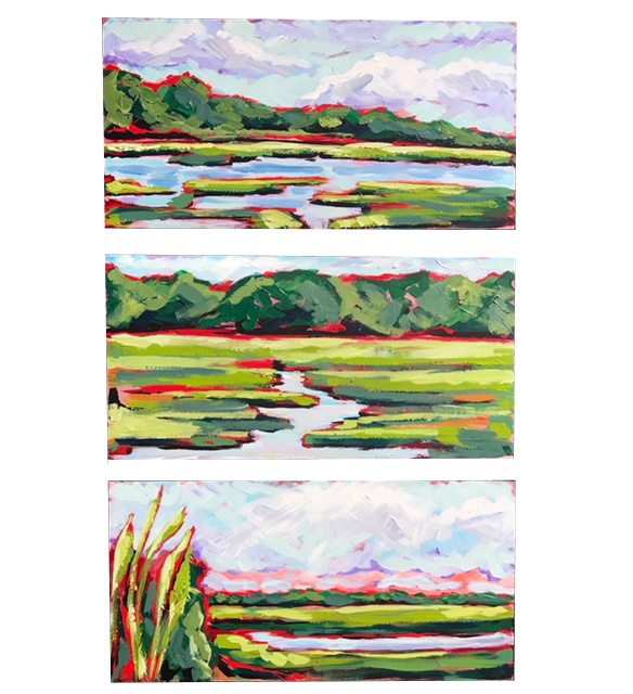 Landscape Triptych 1 Marian Pouch Find Your Joy Greenville SC Local artist painting acrylic bright color colorful..jpg