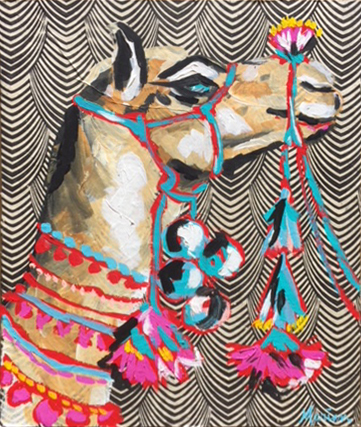 Llama 2Marian Pouch Find Your Joy Greenville SC Local artist painting acrylic bright color colorful..jpg